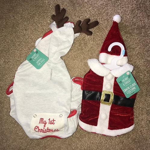 Small Santa & Reindeer Jammies Combo