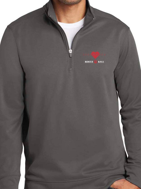 1/4 Zip Performance Fleece in Charcoal