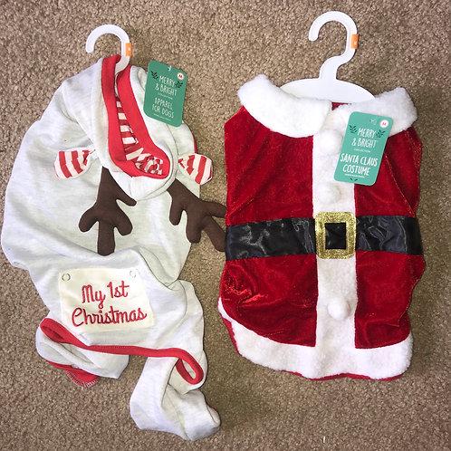 Medium Santa & Reindeer Jammies Combo