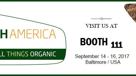 BIOFACH AMERICA - September 14 - 16 2017, Baltimore USA