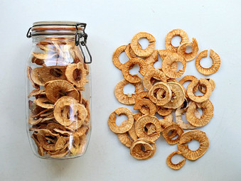 Organic Dried Apple Rings and Recipes