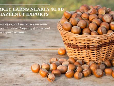 Turkey earns nearly $1.8B in hazelnut exports