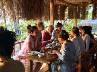 Yoga Teachers and their retreat groups who are welcomed by Yuva - Clive Sheridan
