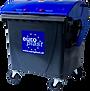 1100l kommunális hulladékgyűjtő edény - billenő fedelű