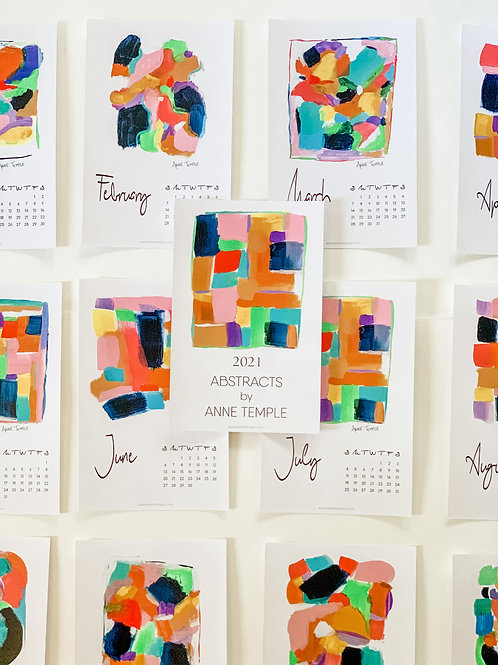 2021 Abstracts Calendar by Anne Temple