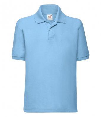 Junior Polo Shirt - Sky Blue