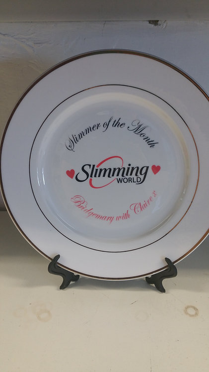 Slimmer of the Month Plate with stand