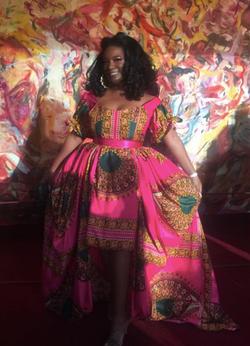 African Ankara Print Gown