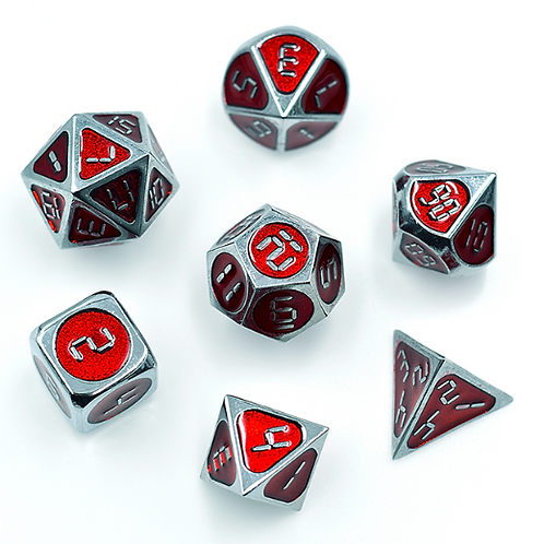 Metal Poly Dice