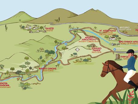 Βόλτα στον πύργο της Οινόης με αραβικά άλογα!