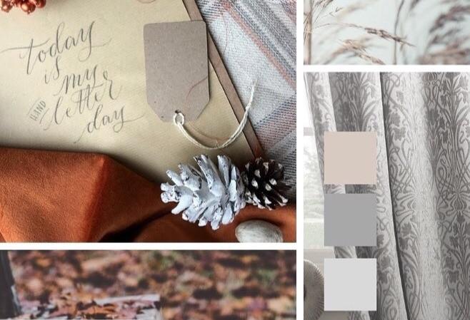 """Υφάσματα σε πανέμορφες φθινοπωρινές αποχρώσεις διαθέσιμα στο κατάστημα """"σύνθεση"""" στη Ν. Μάκρη"""