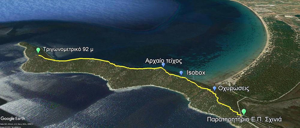 Η διαδρομή στη χερσόνησο της Κυνόσουρας