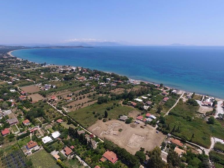 Αεροφωτογραφία της ανασκαφής και της ευρύτερης περιοχής