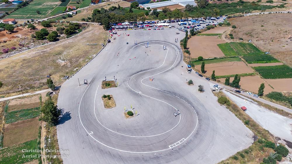 Η πίστα αγώνων drift στο Matathon Valley