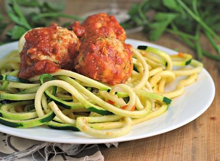 Recipes- Meatballs with Lemon Zucchini Noodles
