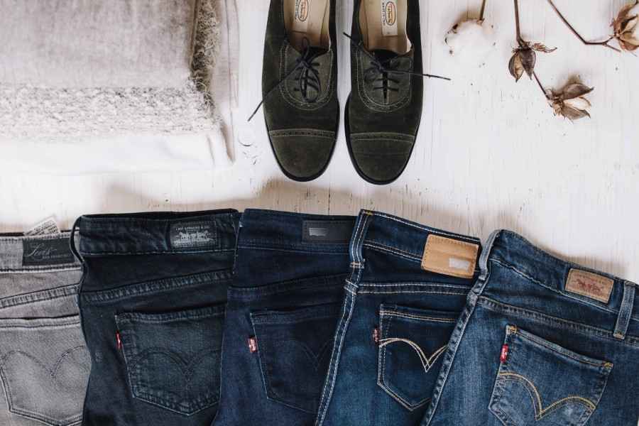 get out of your style rut! jeans, jeans and more jeans, with a pair of shoes.