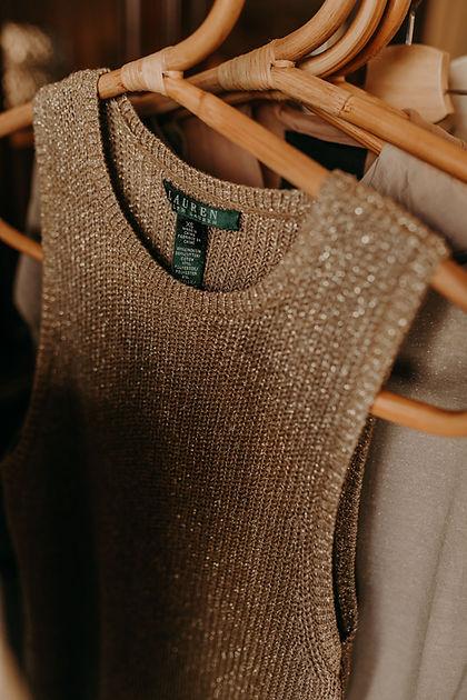 gold Ralph Lauren sleeveless top