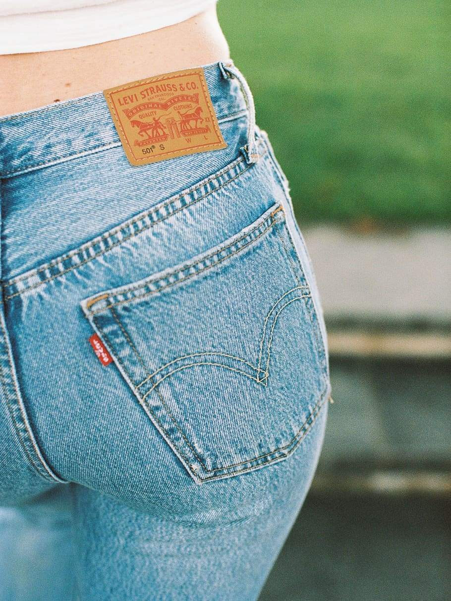 Levis 501s pictured from behind