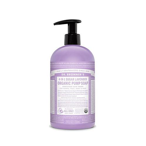 Dr. Bronner's 4-in-1 Sugar Lavender Organic Pump Soap (709ml)