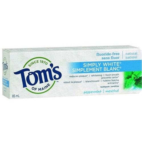 Toms Of Maine-Simply White, Flouride Free Toothpaste
