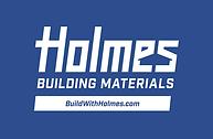 Holmes Logo - PMS Blue Background White