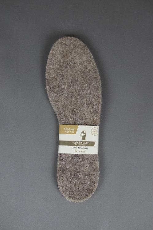 Alpaka Schuheinlegesohle (braun)