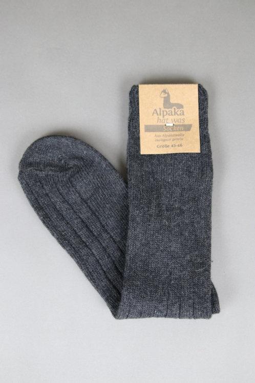 Alpaka Socken (Anthrazit)