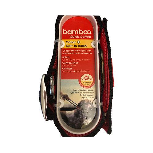 Bamboo collar and Leash combo