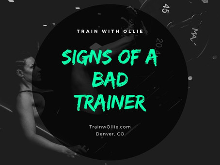 3 Signs of a BAD personal Trainer