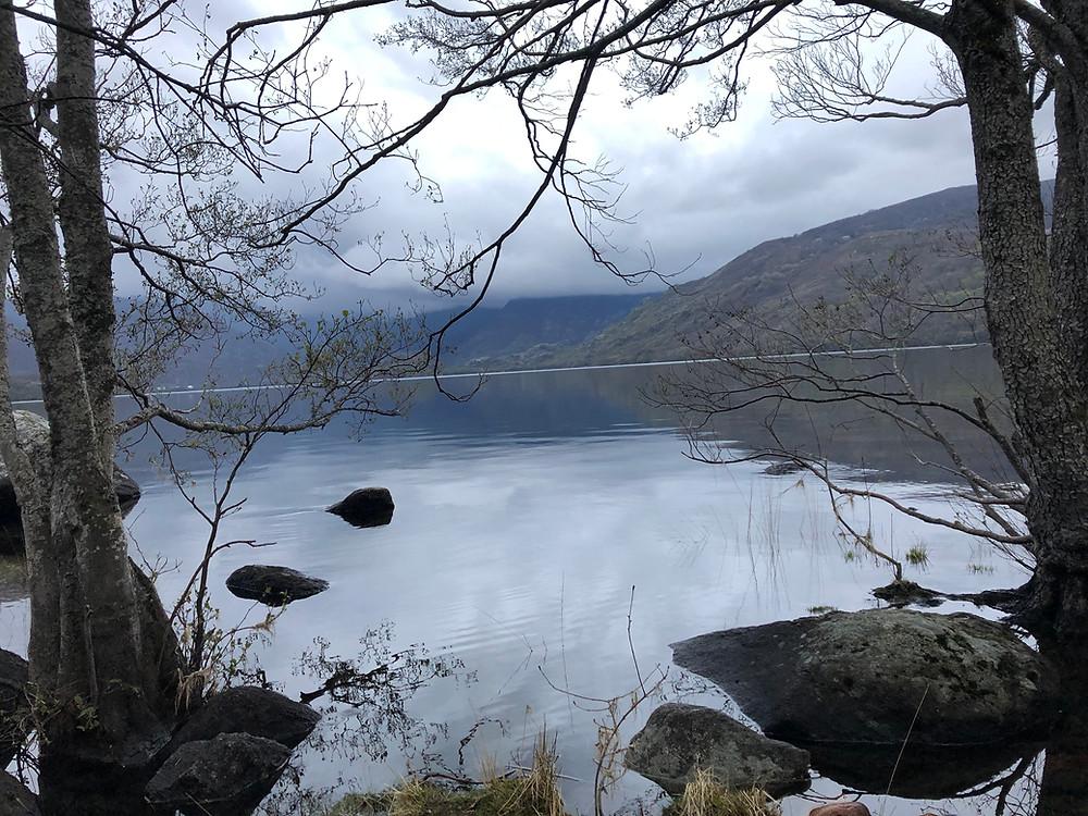 Lago de Sanabria desde los aledaños de la playa de Arenales de Vigo