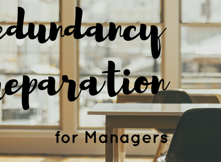 Redundancy Preparation: Talk to your team