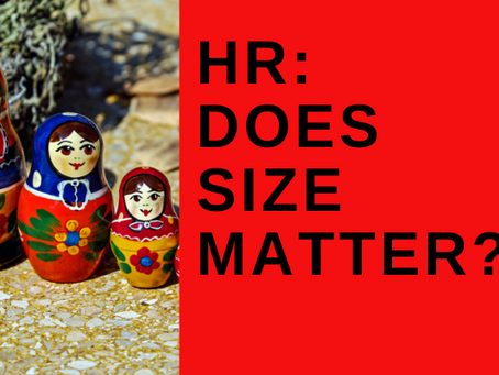 HR: Does Size Matter? Small companies lead to big differences