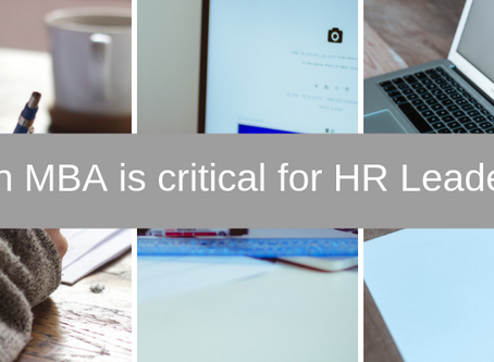 An MBA is critical for HR leaders