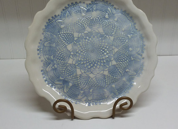 Blue and White Dish by Pat