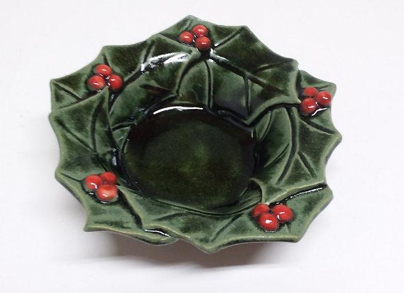 Small Holly Bowl by Pat