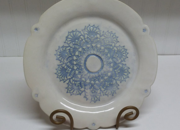 Blue and White Plate by Pat