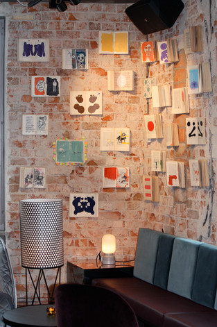 Book wall for Story Hotel Sundbyberg