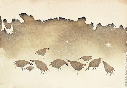 Quail, Three-Diane Lee Moomey