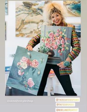 BebeLanders with Rose Paintings
