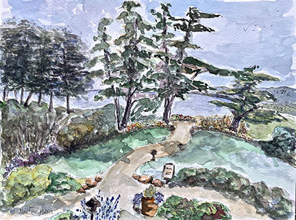 View of Monterey Bay-Martine Mahoudeau
