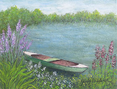 4 - Boat On Peaceful Pond - Judy Freeland