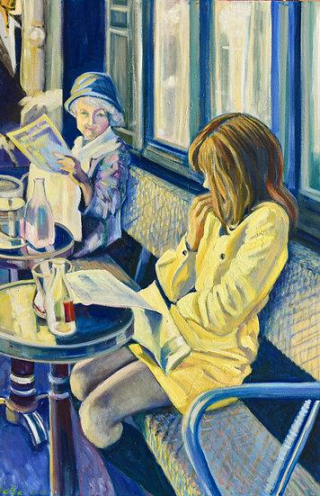 Morning at a Paris Café