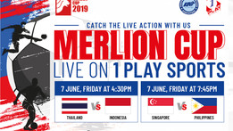 1 Play Sports Official Broadcaster of Merlion Cup Relaunch