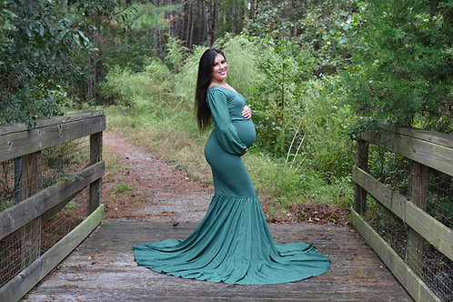 Rental: Forest Green Mermaid Dress
