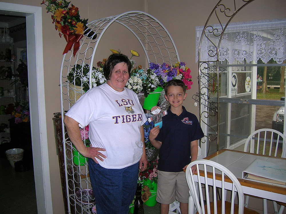 """My son and """"Flat Stanley"""" visited Miss Karla for a class project."""