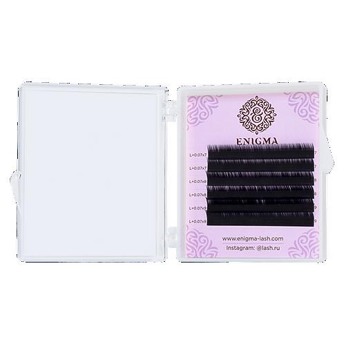 Ресницы Enigma цвет «Мокка» (микс) Изгиб С+ 6 линий