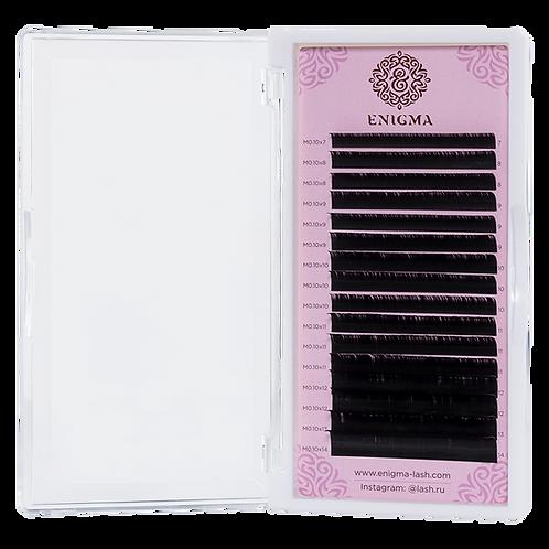 Черные ресницы Enigma Изгиб C+ 16 линий