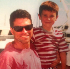 Kevin Bianchi with his son