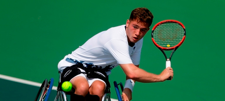 Parasports in Action: GB Wheelchair Tennis Player and Paralympian Alfie Hewitt. Stay tuned: Parasports World provides parasports news, paralympic sports entertainment and disability sports community. Find great sports and inspiring athletes. Read about Paralympic Games, the Invictus Games, Special Olympics and all the other parasports championships.