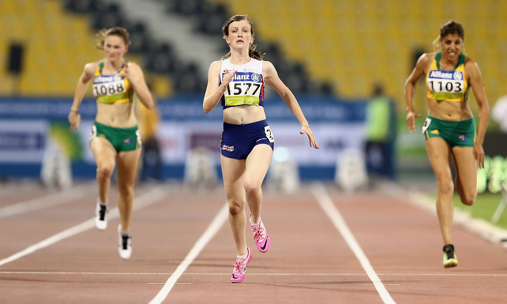 Sohie Hahn competing in Doha 2015